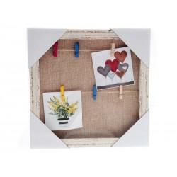 Unihouse Fotorámeček s 6-ti kolíčky čtverec 30 x 30 cm