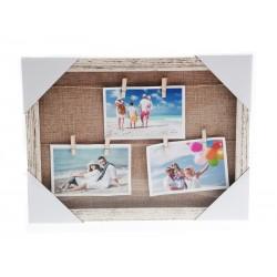 Unihouse Fotorámeček s 6-ti kolíčky přírodní 30 x 40 cm