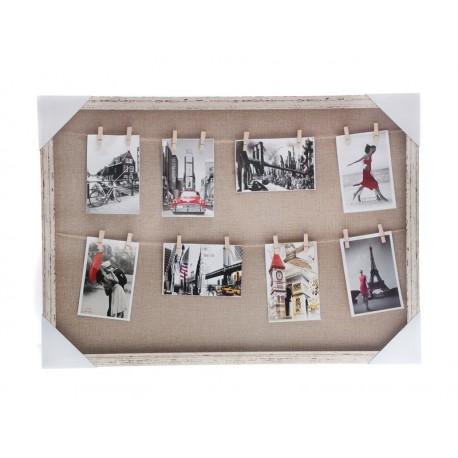 Unihouse Fotorámeček s 16-ti kolíčky 50 x 70 cm