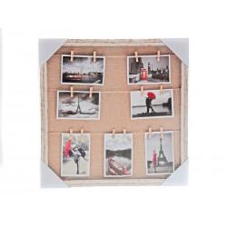 Unihouse Fotorámeček s 14-ti kolíčky 50 x 50 cm
