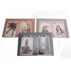 Unihouse Fotorámeček s kolíčky, 4 ks 20 x 30 cm