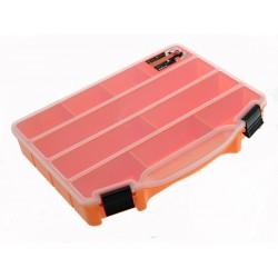 Unihouse Organizér na nářadí plastový průhledný 4 x 20 x 25 cm - oranžový