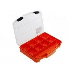 Unihouse Organizér na nářadí průhledný 3 x 14 x 19 cm - oranžový