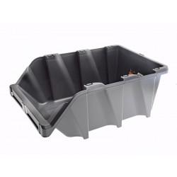 Unihouse Úložný box 19,5 x 31 x 49 cm plastový šedý