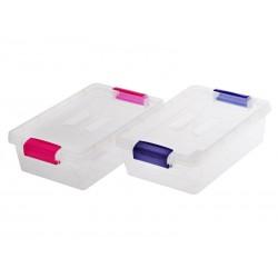 Unihouse Úložný box plastový 3,8 l modrý, růžový