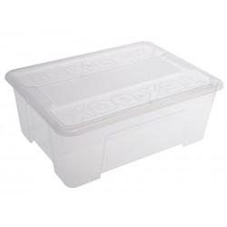Unihouse Úložný box plastový 14 x 28 x 38 cm bílý