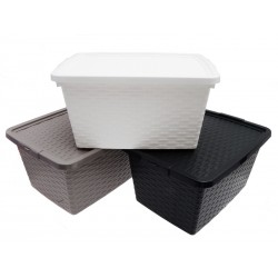 Unihouse Úložný box s víkem plastový 23 x 33 x 44 cm