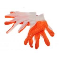 Unihouse Pracovní rukavice na zahradu 20 cm oranžové