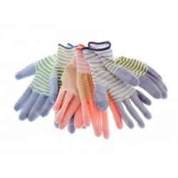 Unihouse Zahradnické pracovní rukavice 22 cm pruhované