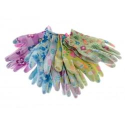 Unihouse Rukavice zahradnické 22 cm květiny