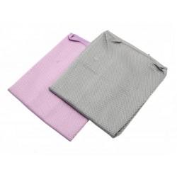 Unihouse Utěrka z mikrovlákna 35 x 35 cm fialová, šedá
