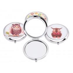 Unihouse Kapesní kosmetické zrcátko pr. 7 cm sova
