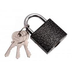 Unihouse Visací zámek, 3 klíče 38 mm černý