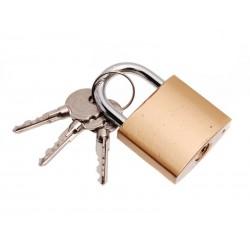 Unihouse Visací zámek, 3 klíče 38 mm zlatý