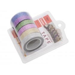Unihouse Lepící páska dekorační 1 x 5 cm 6 ks mix